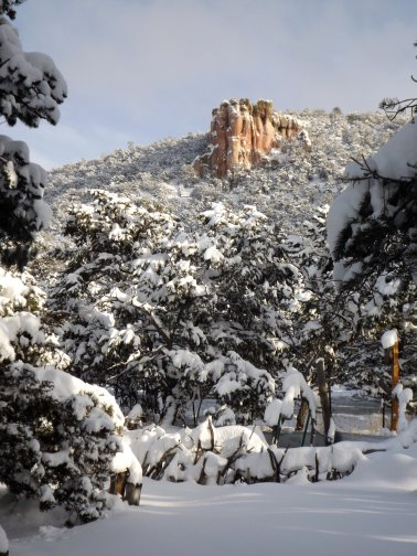 Photo of mesa in winter