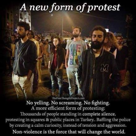 silent protest